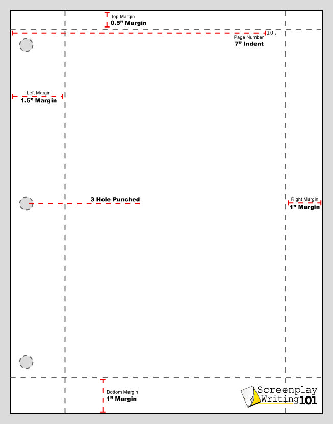 proper screenplay margins screenplay format pinterest