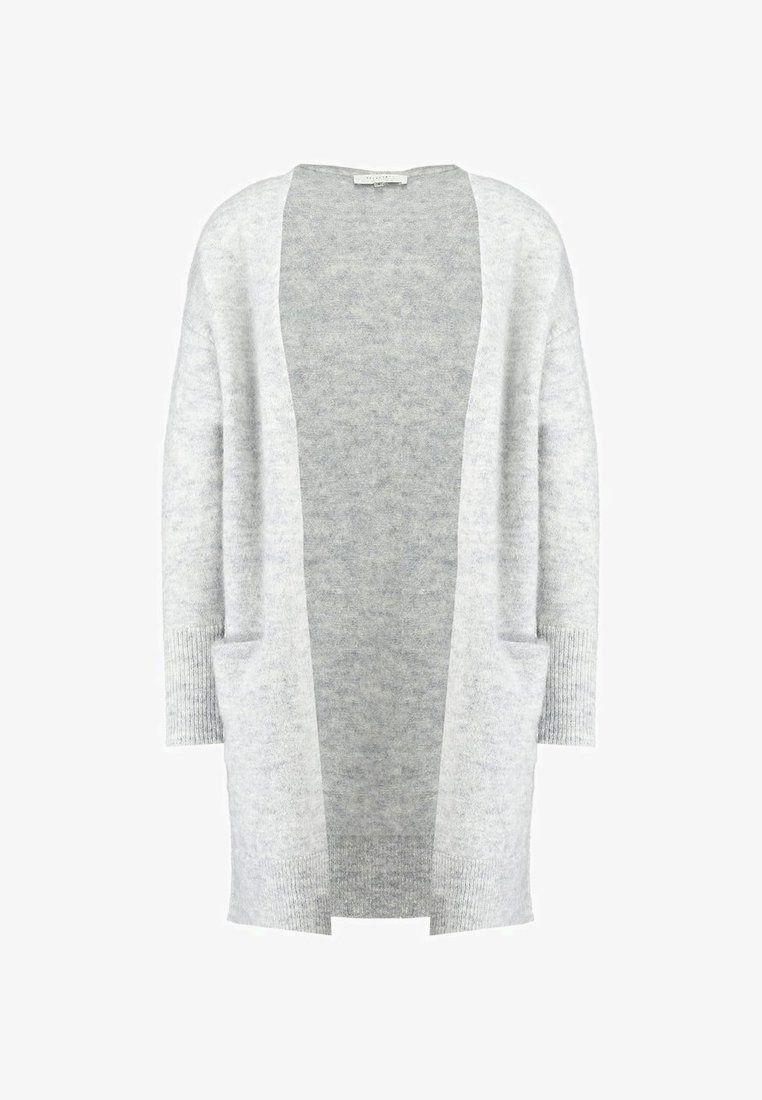 b86452b10a5 SFLIVANA CUFF CARDIGAN - Vest - light grey melange @ Zalando.be ...