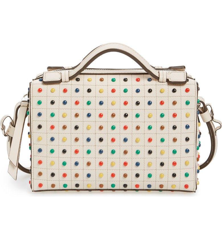 Main Image - Tod's Mini Diodon Rainbow Studded Leather Bowler Bag