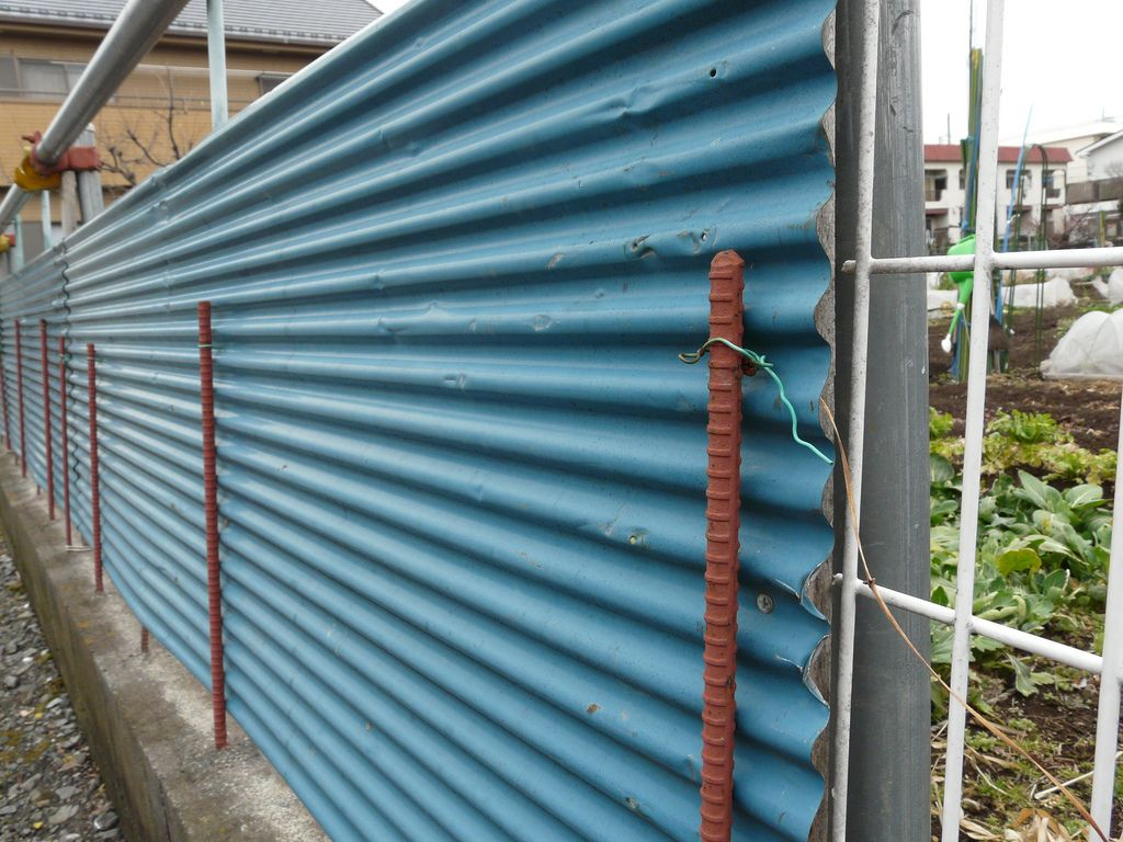 Fence In Wire And Corrugated Iron Fixes Metal Fence Panels Corrugated Metal Fence Steel Fence