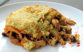 Recreating Happiness (formerly 100 Days of Gluten Free Recipes): Gluten Free Salsa Chicken Cornbread Casserole Recipe