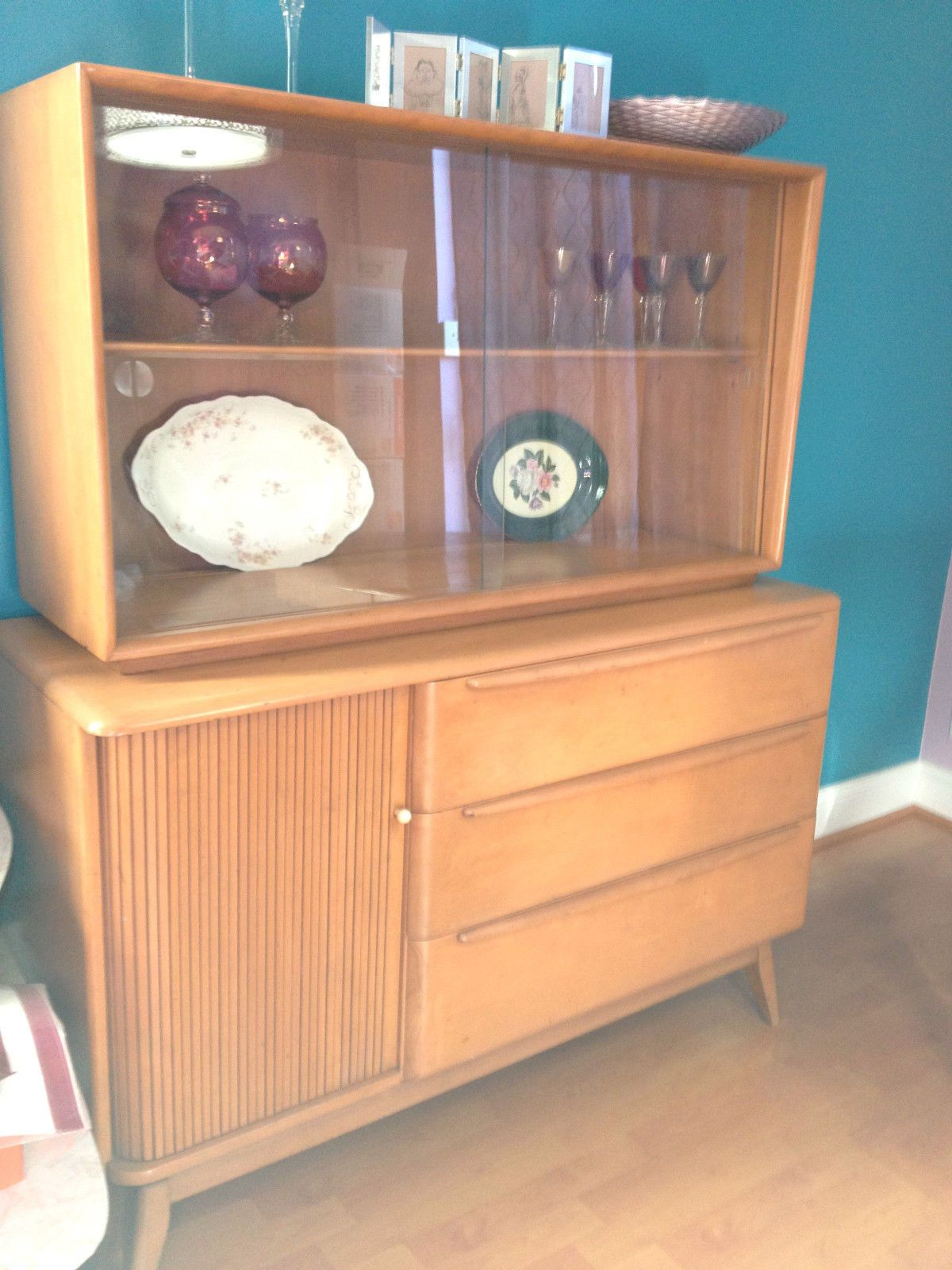 Vintage Heywood Wakefield Tambour Buffet Hutch Mid Century Modern Sold March 2014 For 550
