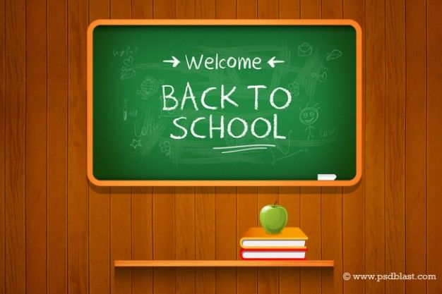 Download School Drawing With Chalkboard On Wooden Background For Free Back To School Welcome Back To School School