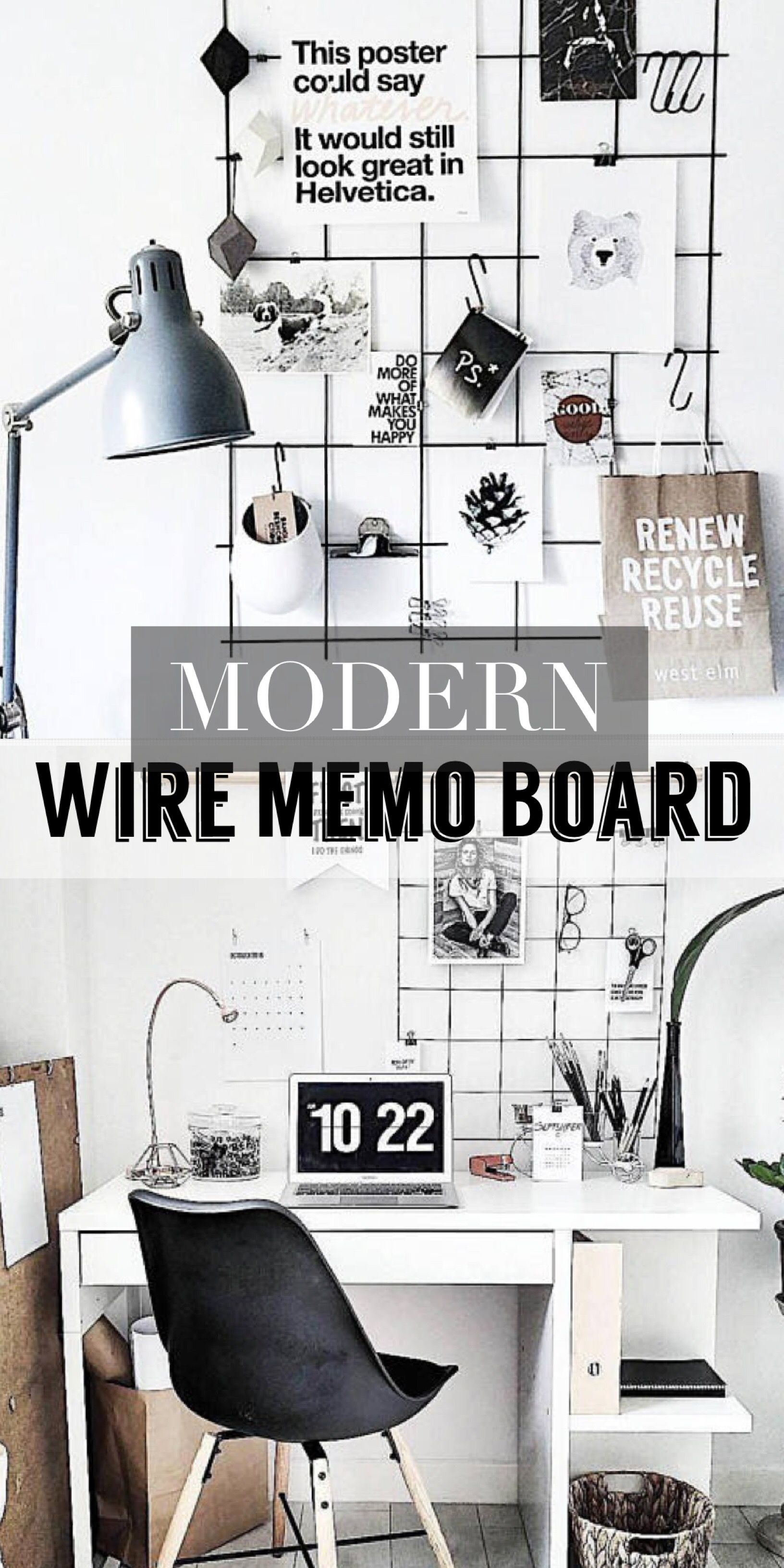 Modern Style Home Office Memo Board, Mood Board. #ad Would Love to ...
