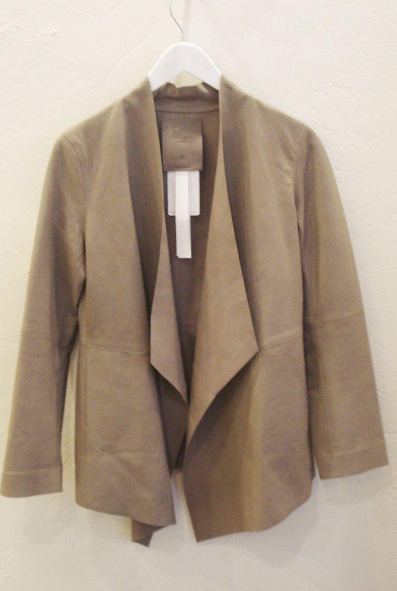 raw + long leather jacket