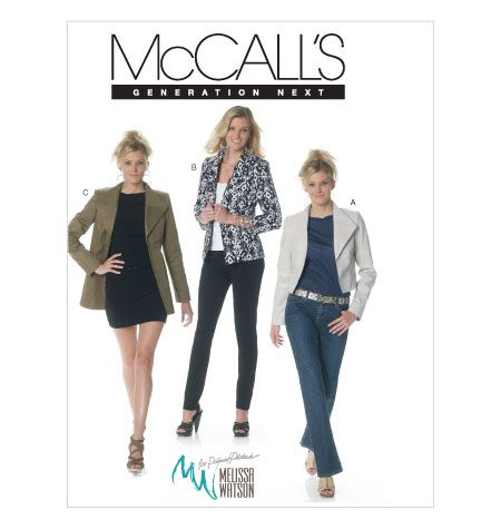 M6294, Misses' Lined Jackets In 3 Lengths #McCalls #outofprint #jacket