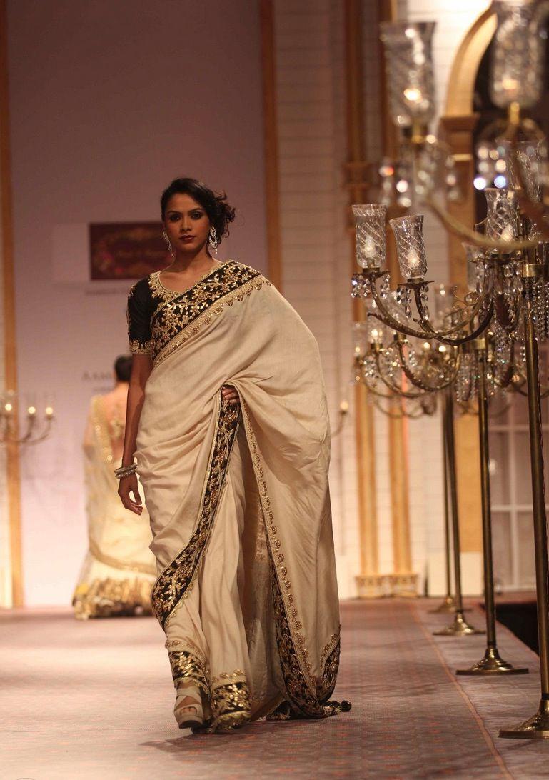 Saree for fashion show preeti s kapoor  india bridal week   箱  pinterest  india