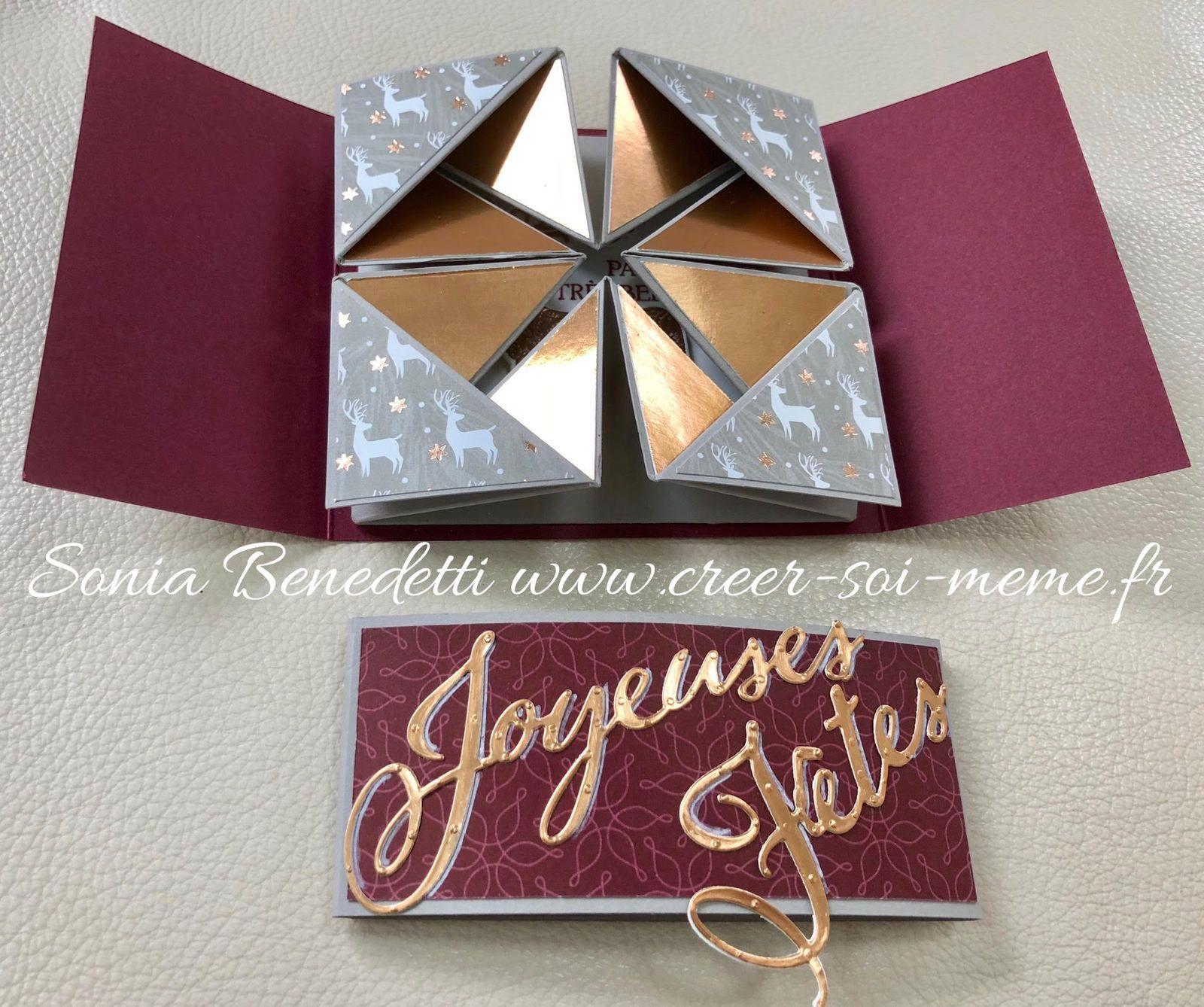 Carte Et Origami Pour Noel Et Son Tuto Carte Noel Diy Carte De