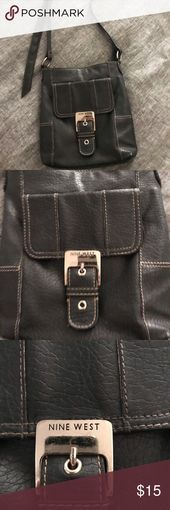 Nine West cross body purse Cross body soft black bag with stitching Great bag f Nine West cross body purse Cross body soft black bag with stitching Great bag for travelin...