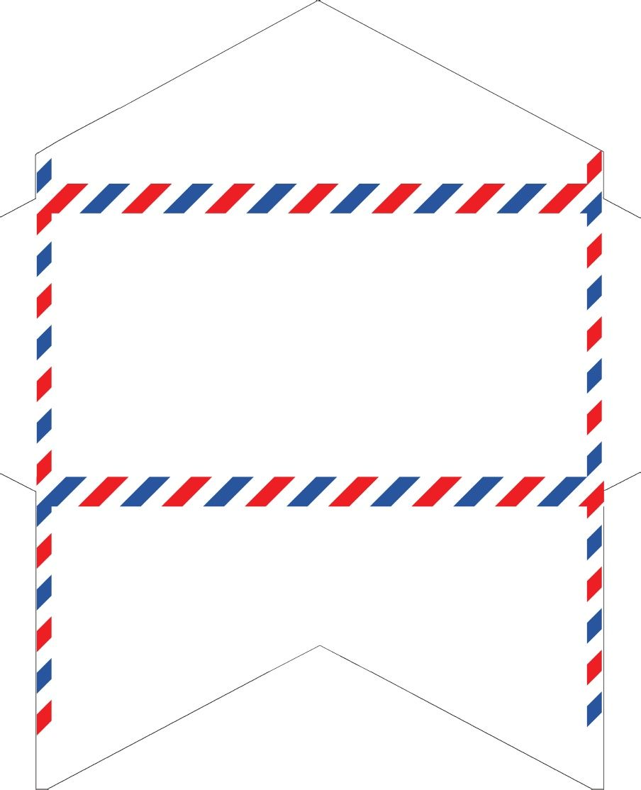 OldFashioned Correspondence Airmail Envelopes Free Printable