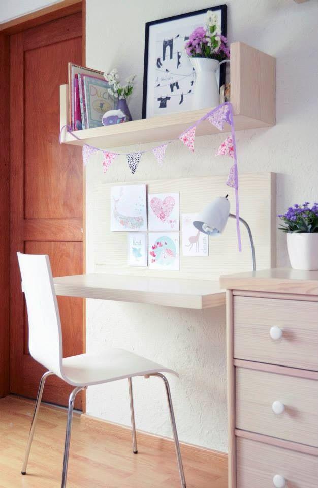 Escritorio de ni a hecho a la medida kids pinterest escritorios decoracion cuarto ni o y - Escritorio ninos ...