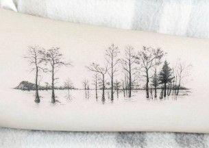 Row of Trees Tattoo