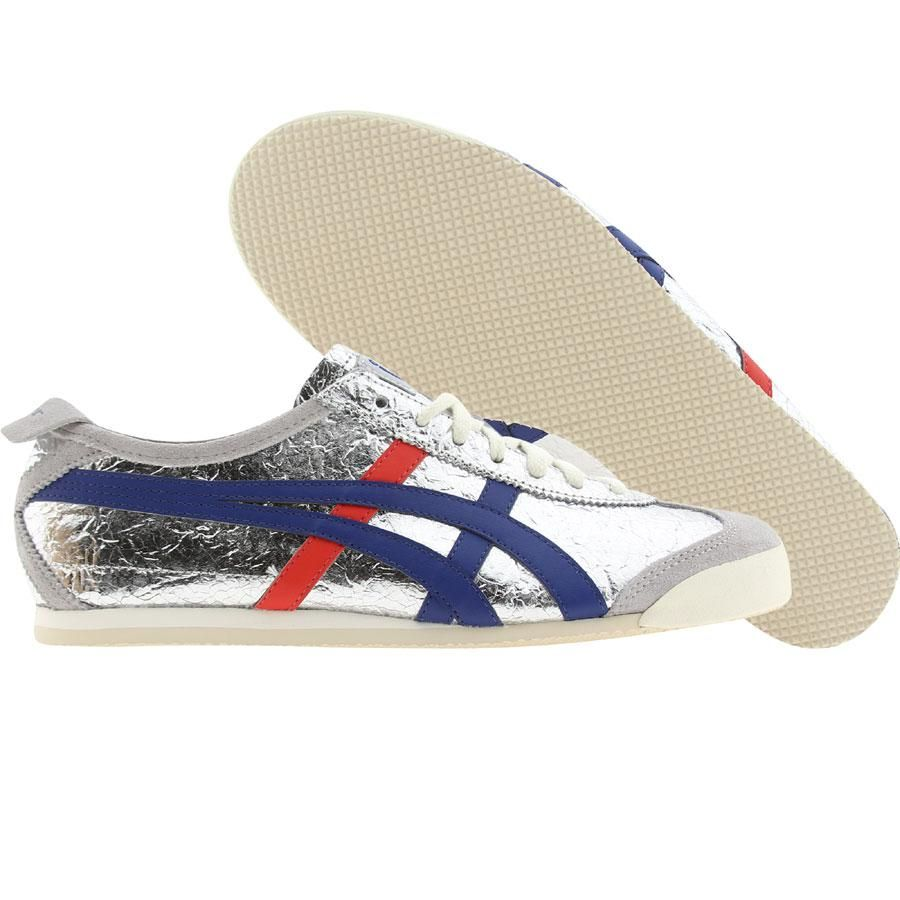 Asics Onitsuka Tiger Men Mexico 66 (silver / blue) Shoes HL7C2-9342 |