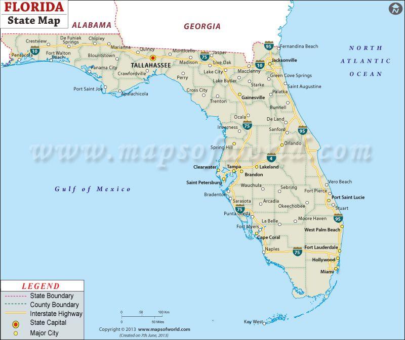 Usa Map Florida State.State Map Of Florida Classroom Ideas Florida State Map State