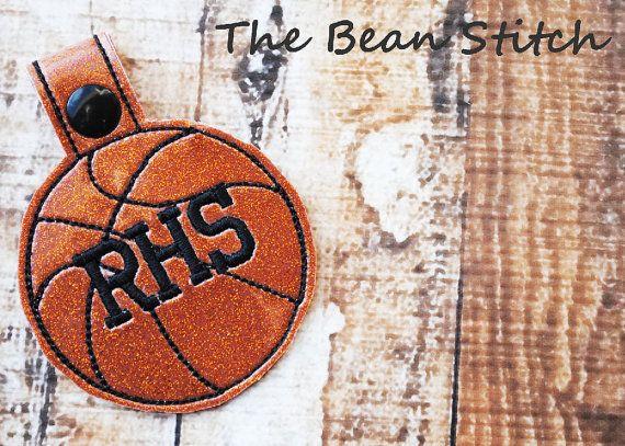 Basketball key fob from Bean Stitch