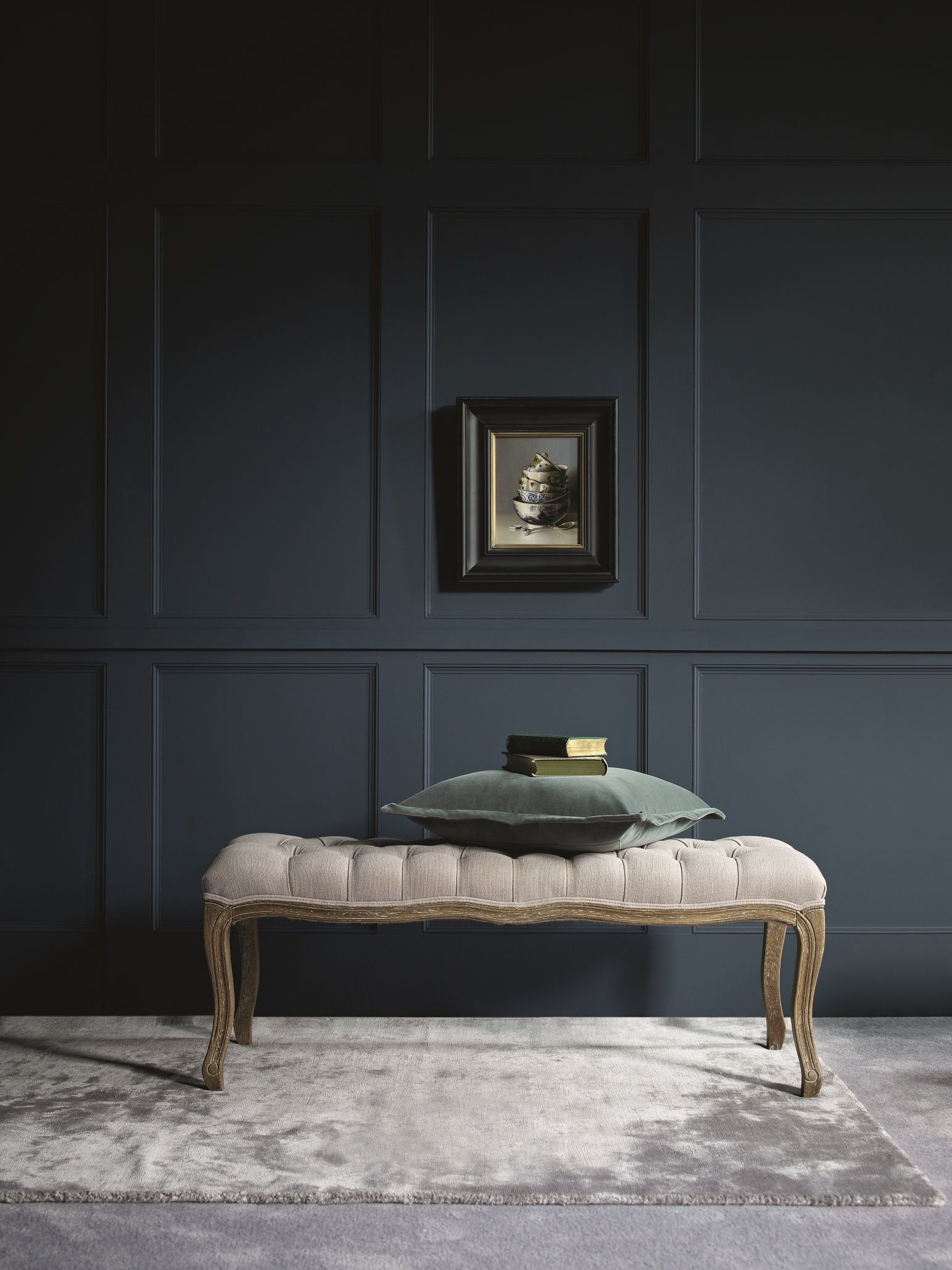 Panelled Room: Really Drawn To This Image. Love The Silvery Tones And