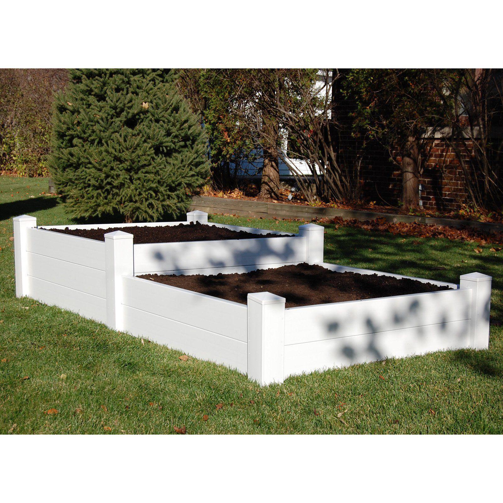 Dura Trel 4 X 8 Rectangle Split Level Raised Planter Bed Planter