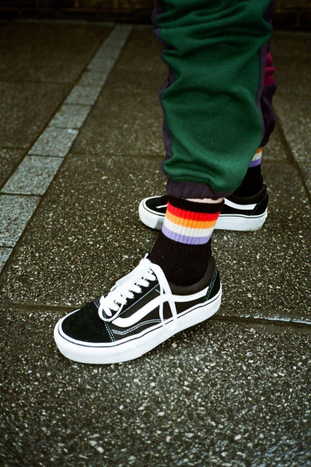 Vintage Vibes Retro Black Vans Sneakers