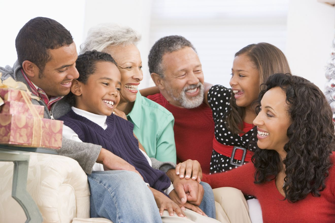 Houston family law attorney family gathering black