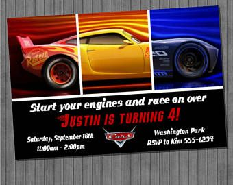 Image Result For Cars 3 Party Invite