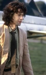 Jimmy Page arriving at Knebworth, 1979