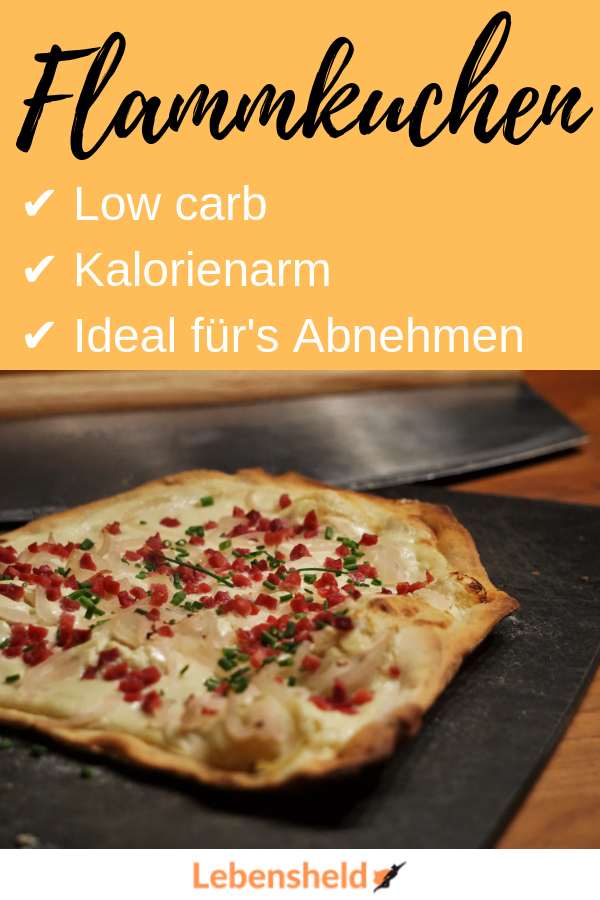 Low carb Flammkuchen - Lebensheld