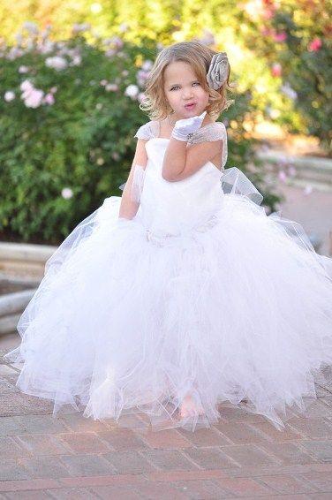 Tutu flower girl dresses white elegant flower girls tutu dress tutu flower girl dresses white elegant flower girls tutu dress mightylinksfo Images