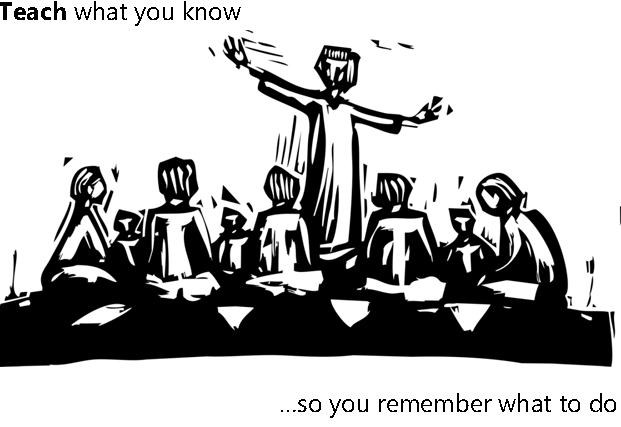 Teach what you know so you'll remember what to do - http://www.julianhall.co.uk/books