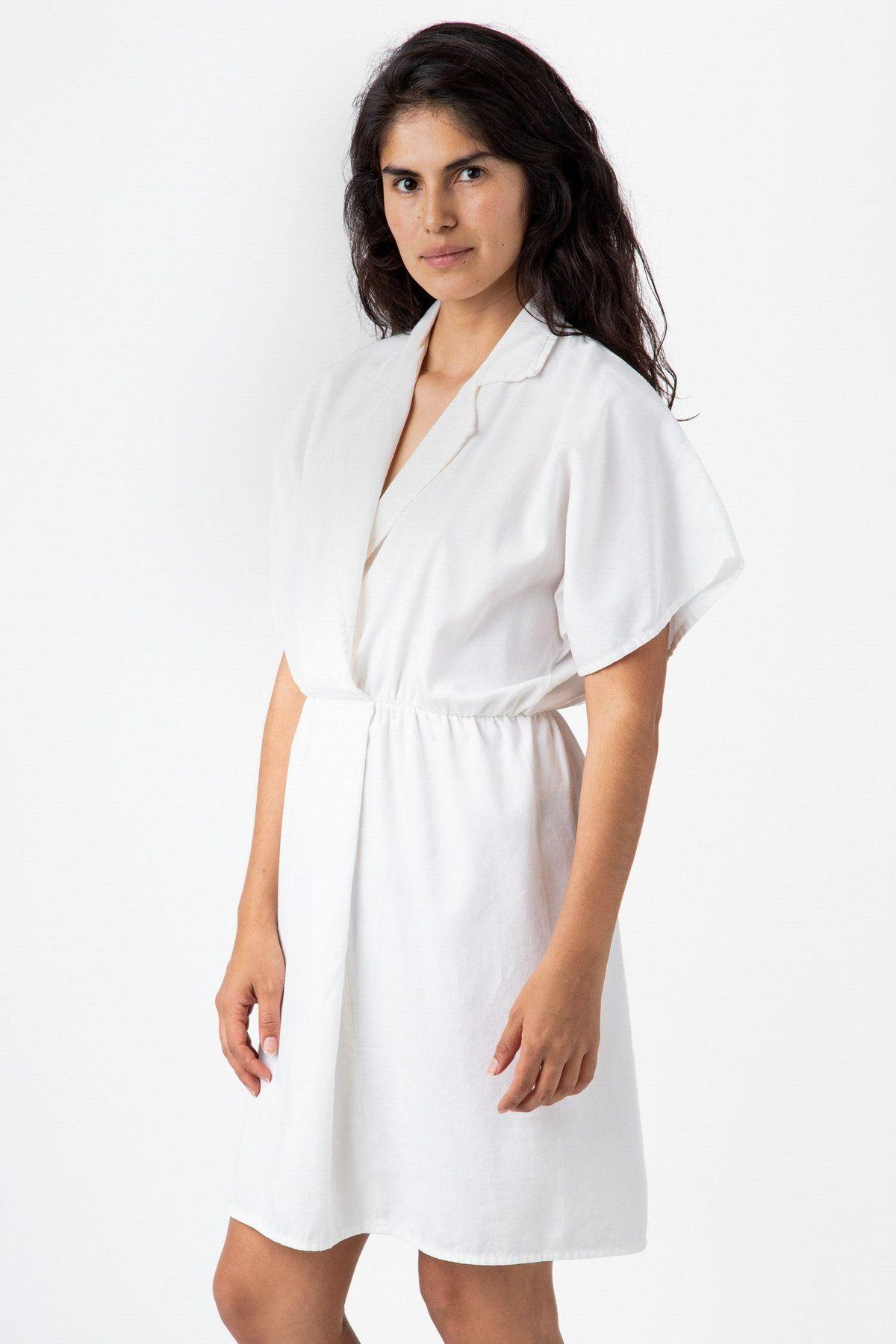 White Dress Made In Usa Los Angeles Apparel Fashion Minimalist Fashion Style