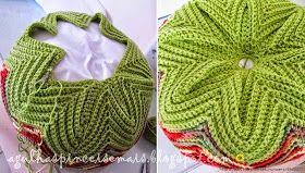 Muy original este almohadón tejido con punto zig zag al crochet     Primeramente tejer una franja y el secreto está en unirla...