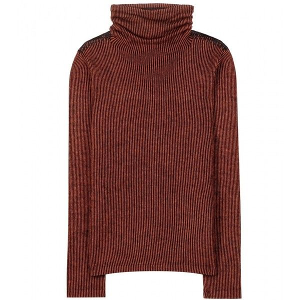 Etro Wool, Silk and Cashmere-Blend Turtleneck Sweatshirt ($535) ❤ liked on Polyvore featuring tops, hoodies, sweatshirts, shirts, red, turtle neck shirts, sweatshirts hoodies, turtleneck tops, red shirt and silk shirt