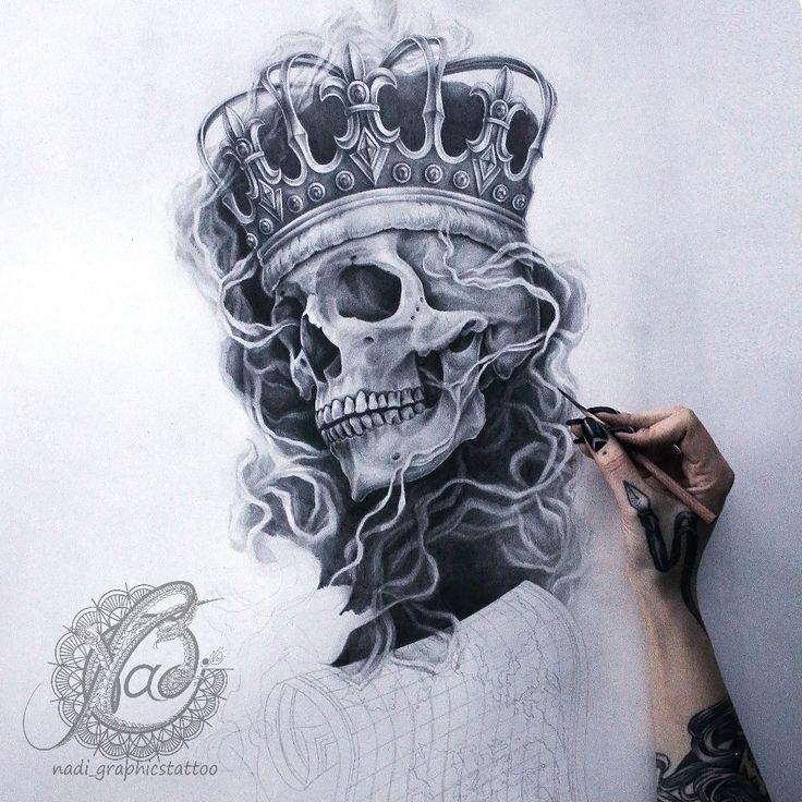 Pin by daniel on tattoo ink pinterest tattoo tatting for Skeleton king tattoo