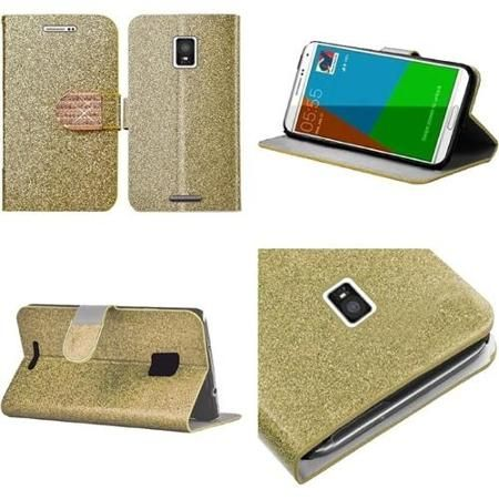 Insten Gold Leather Folio Flip Wallet Case with Credit Card Slot Stand For Samsung Galaxy Note 4 N9100