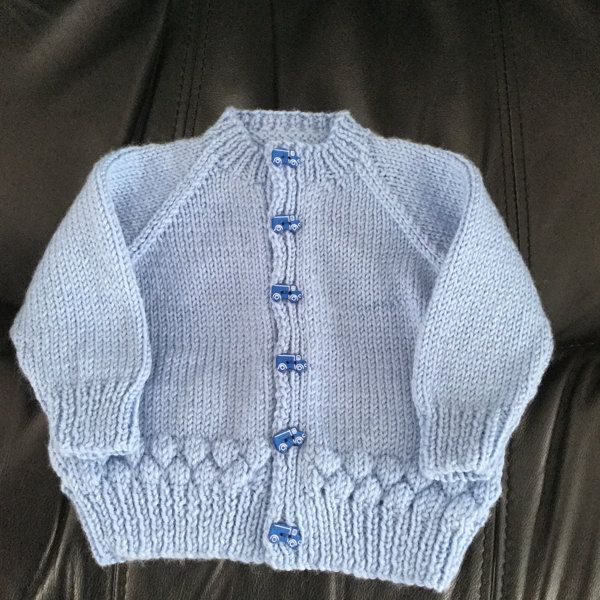 Bubble Baby Cardigan in Peter Pan Merino Baby DK 50g Free ...