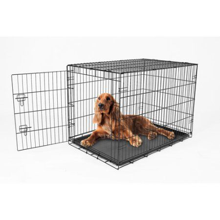 Carlson Compact And Secure Extra Large Metal Dog Crate Black