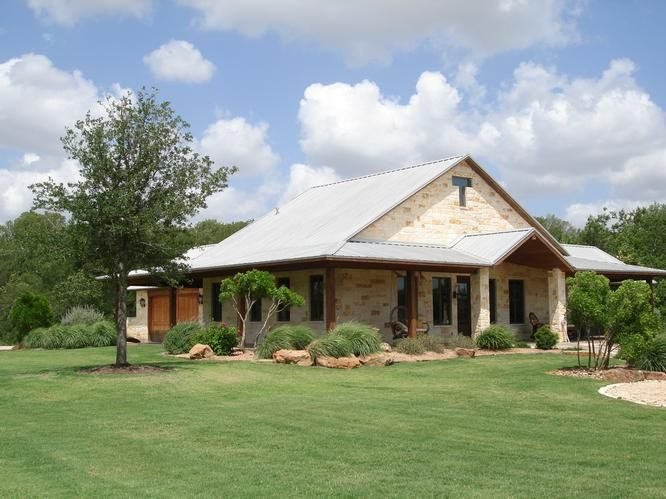 Barndominium love the stone coverage if we ever sell Country home builders in texas