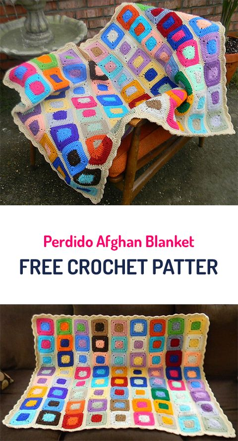 Perdido Afghan Blanket Free Crochet Pattern #crochet #yarn #crafts ...