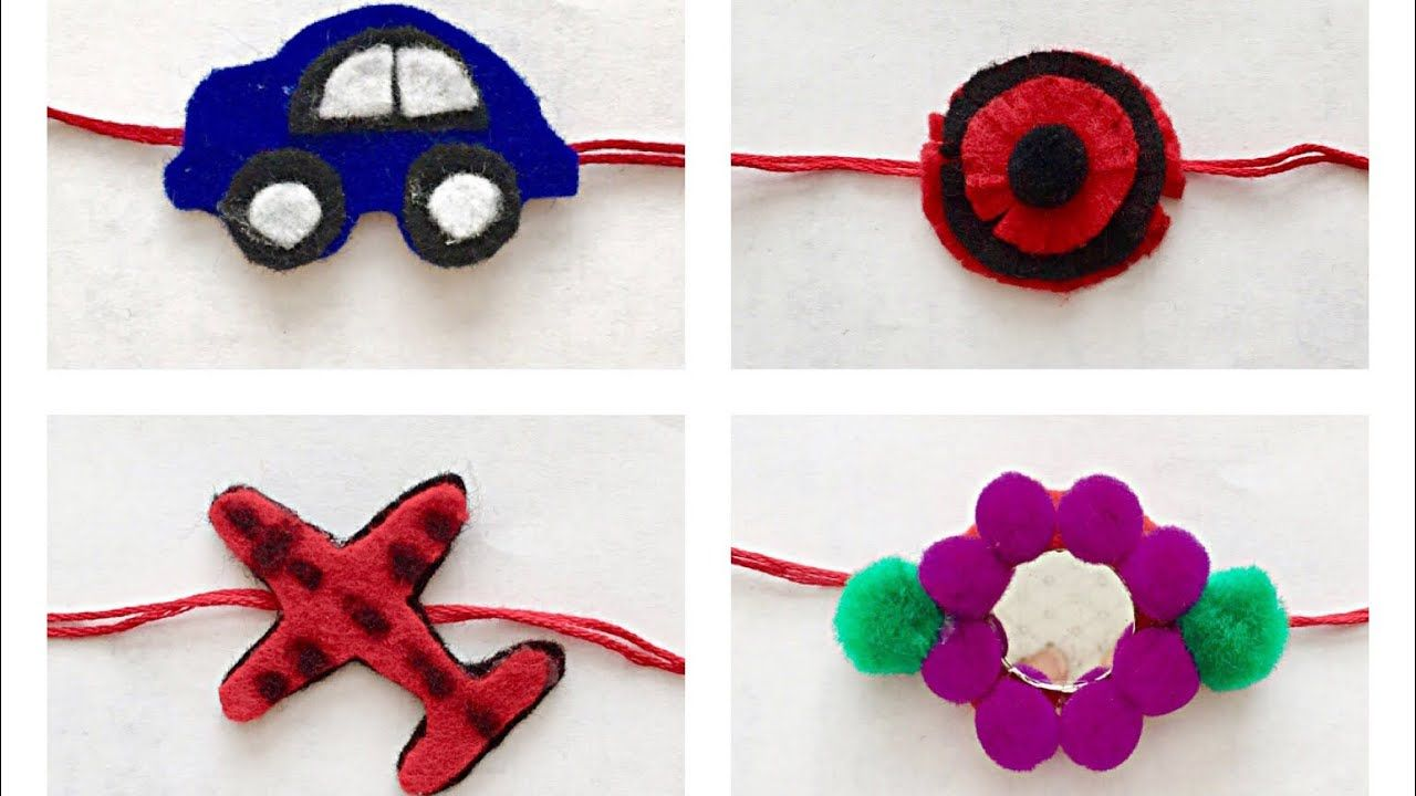Diy Rakhi Making Ideas For Kids Handmade Rakhi Fashion Pixies