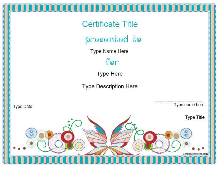 blank certificate design certificate template