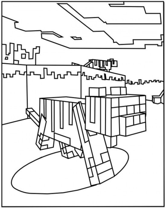 Minecraft Ocelot Coloring Pages 550x687 Picture Coloring Pages