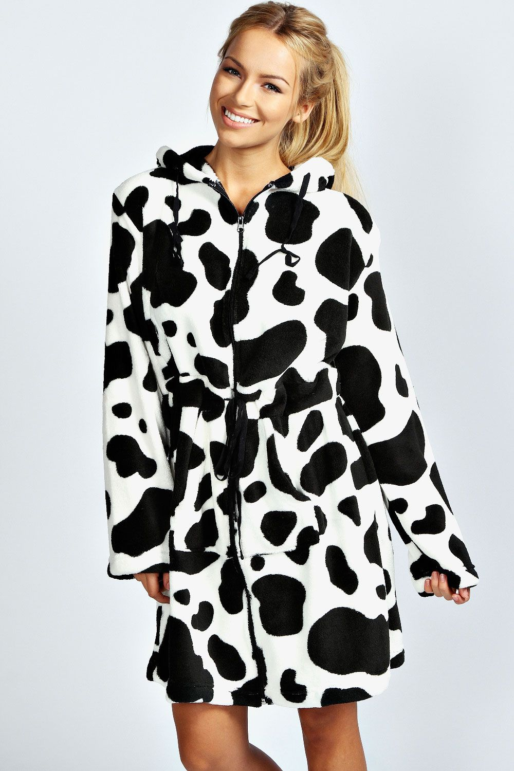 Millie Cow Print Dressing Gown | my cow obsession | Pinterest | Cow ...