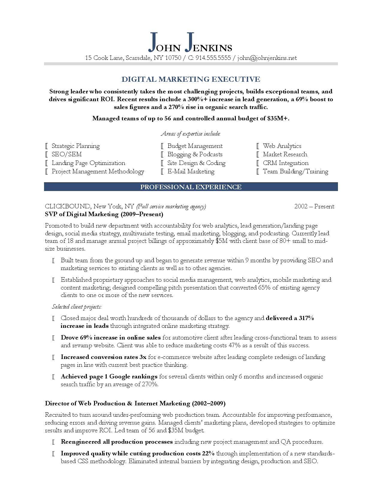 Marketing resume writing services