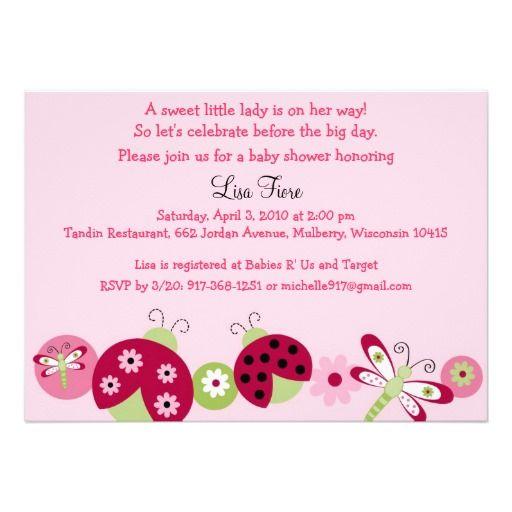 Ladybug dragonfly baby shower invitations shower invitations ladybug dragonfly baby shower invitations filmwisefo Images