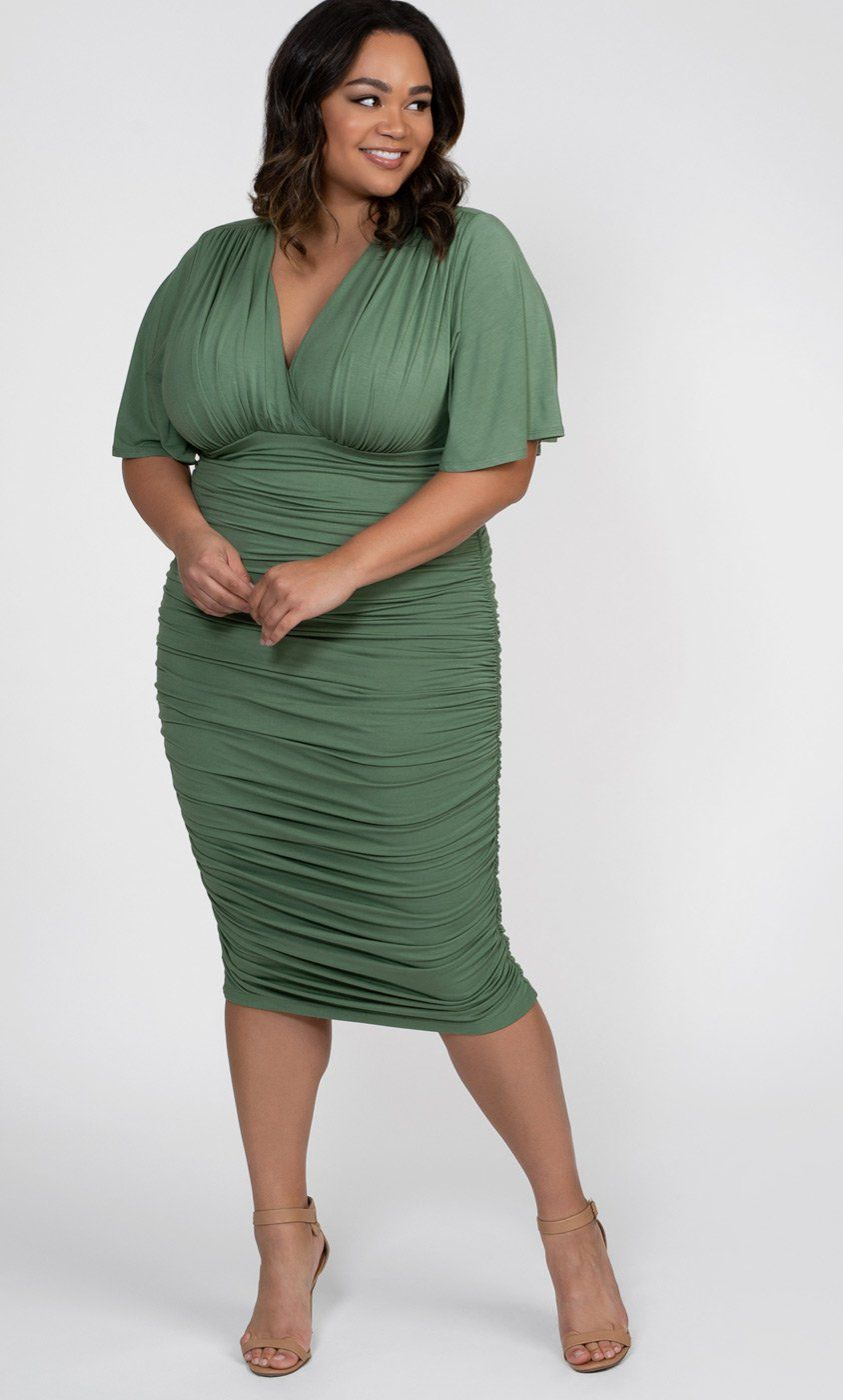 Plus Size Ruched Dress in sizes 0x-5x   Plus Size Dresses ...