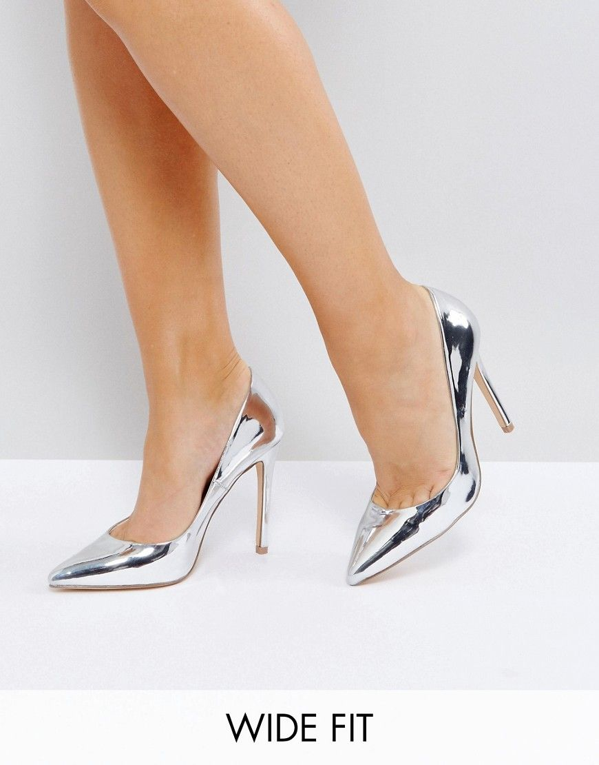 Faith Wide Fit WIDE FIT CHLOE - High heels - silver afTN4ypV
