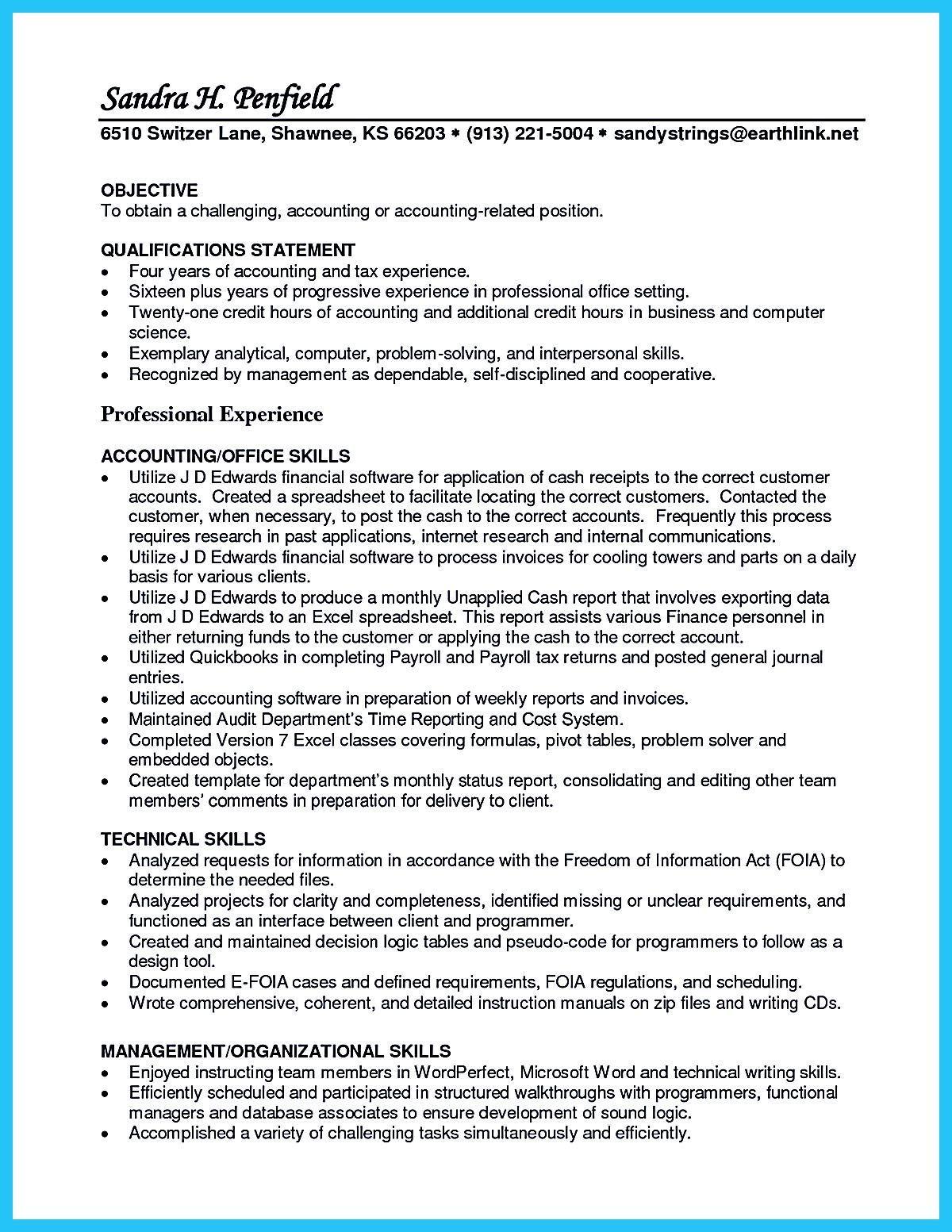 Accounts Payable Resume Format Resume Templates