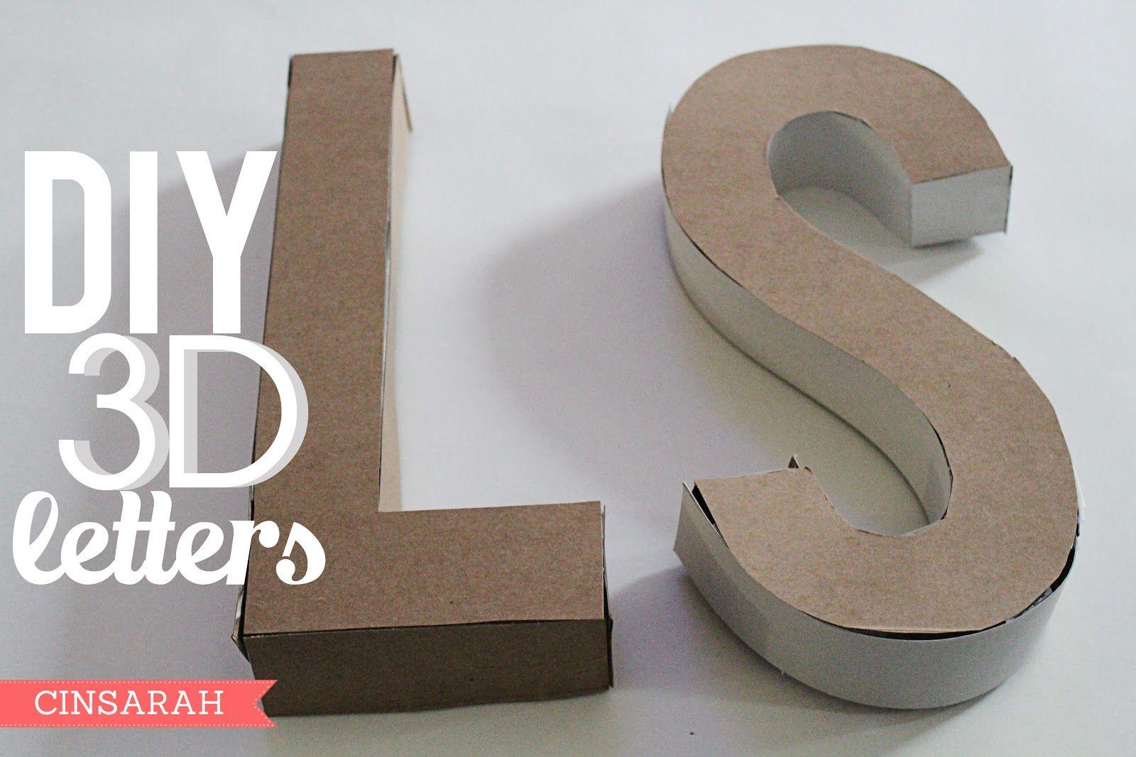 3d Letter Diy.Cinsarah Diy 3d Letters Using Cereal Boxes Cinsarah Blog