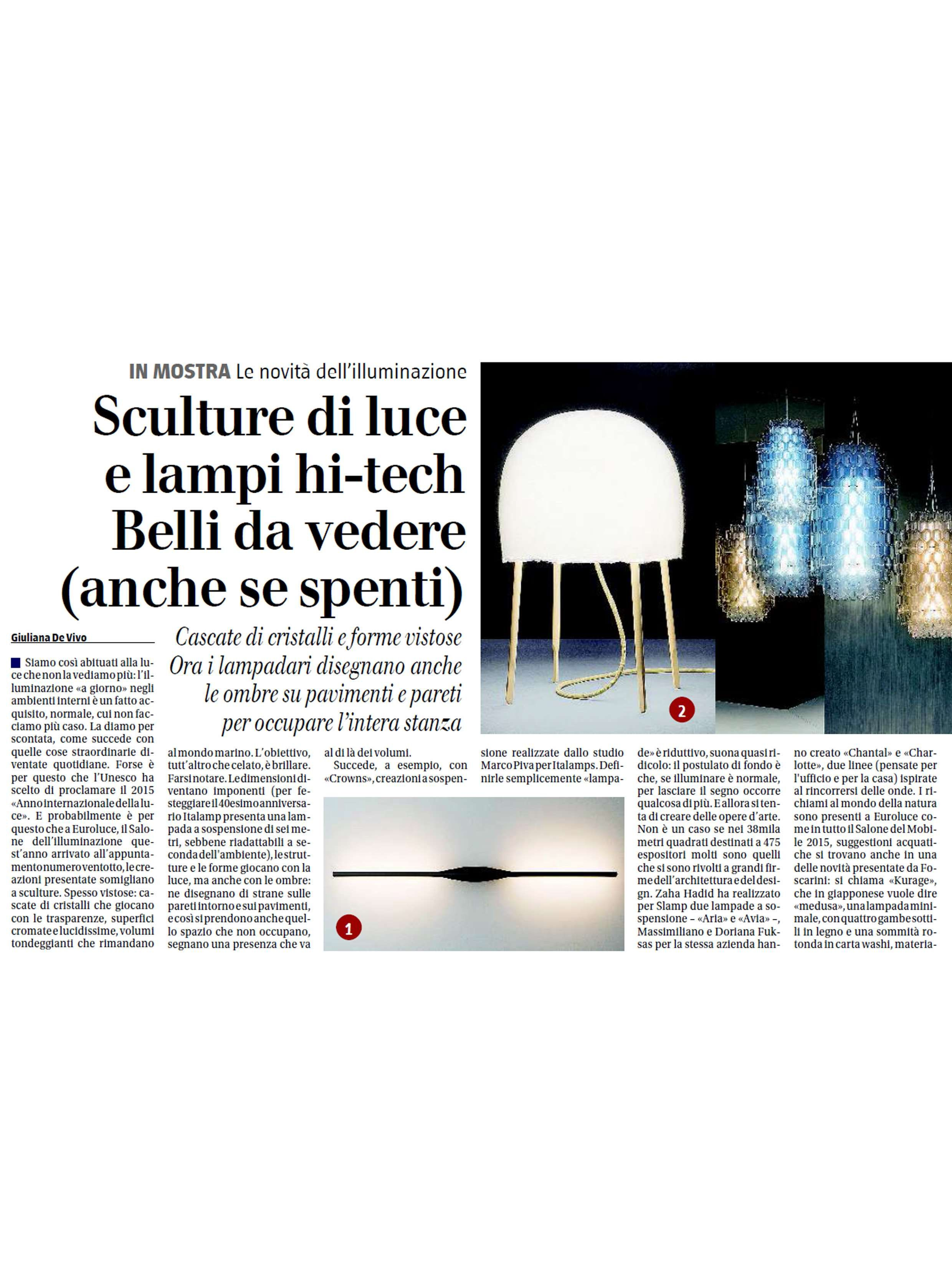 Chantal by Fuksas on Il Giornale April 2015
