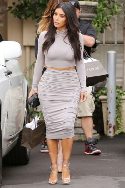 ee8efa582c1e7 ... Celebrity Style and Fashion Advice from InStyle. Celebrities Show You  How To Wear Pencil Skirts  Kim Kardashian
