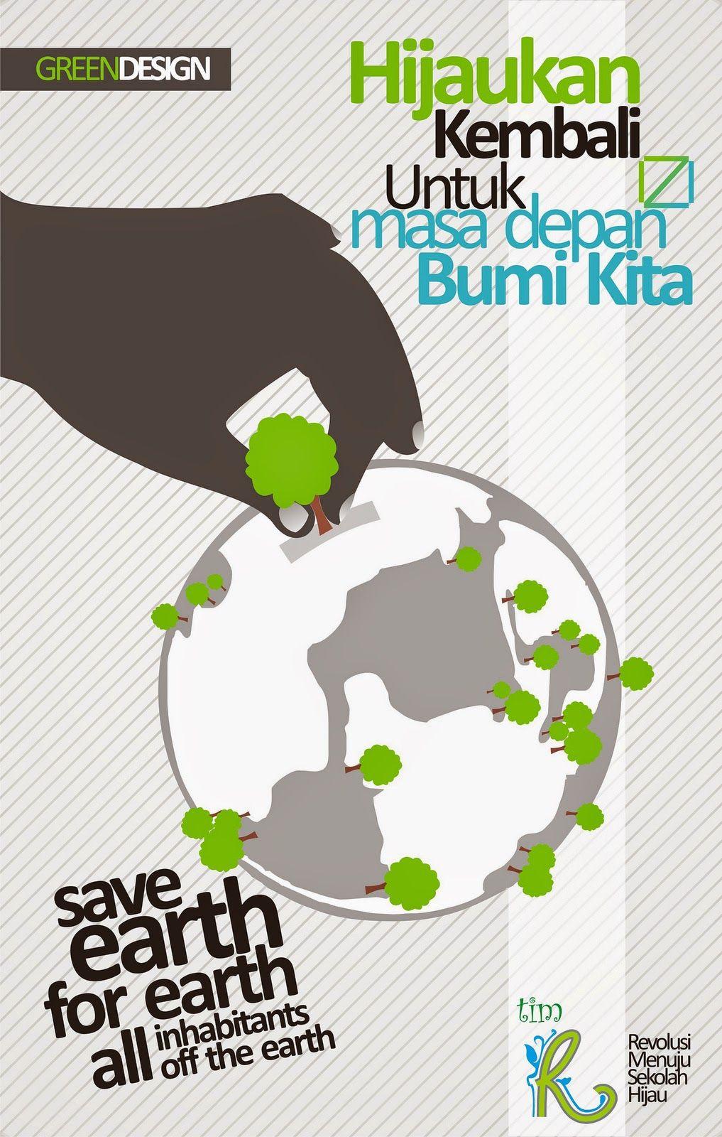 Poster Lingkungan Mari Menanam Pohon